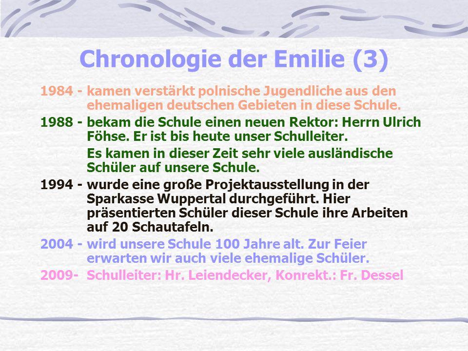 Chronologie der Emilie (3) 1984 - kamen verstärkt polnische Jugendliche aus den ehemaligen deutschen Gebieten in diese Schule.