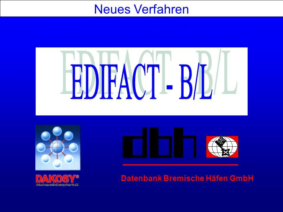 Aufgaben für den Makler/ Agenten Aktuelle Situation Neues Verfahren Termine Aufgaben für den Spediteur Ausblick in die Zukunft Bill of Lading goes EDIFACT www.bill-of-lading.de www.bill-of-lading.com
