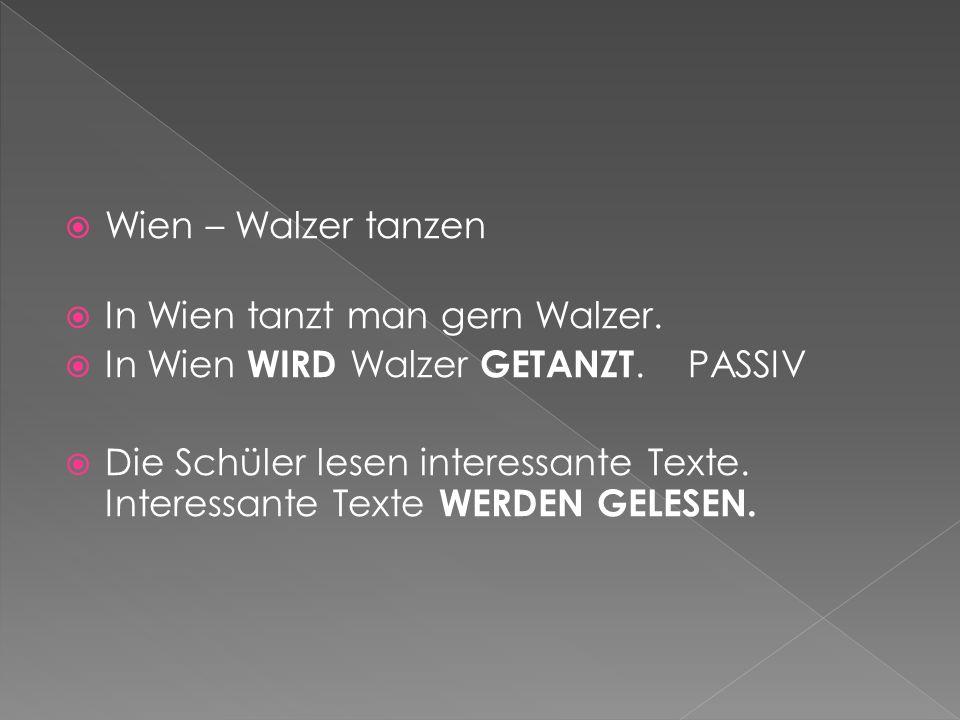 Wien – Walzer tanzen In Wien tanzt man gern Walzer.