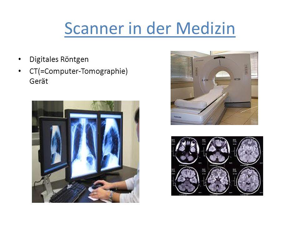 Scanner in der Medizin Digitales Röntgen CT(=Computer-Tomographie) Gerät