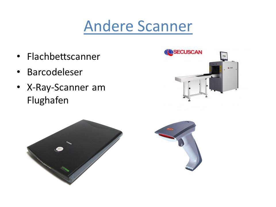 Andere Scanner Flachbettscanner Barcodeleser X-Ray-Scanner am Flughafen