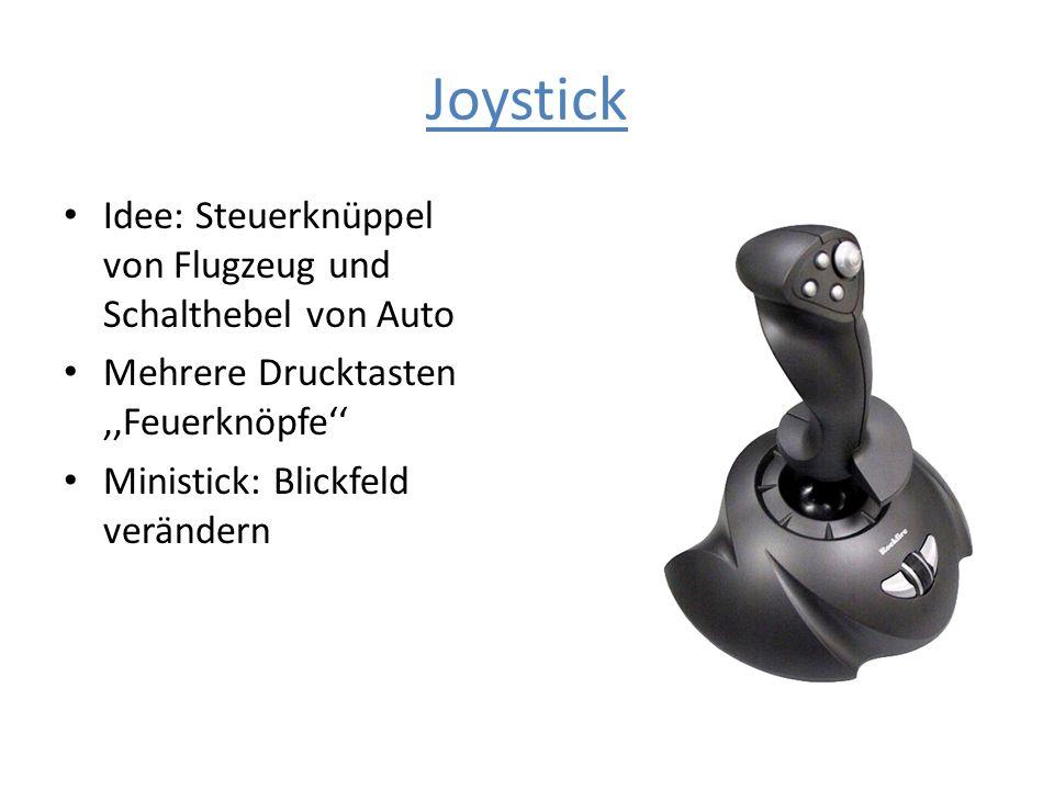 Joystick Idee: Steuerknüppel von Flugzeug und Schalthebel von Auto Mehrere Drucktasten,,Feuerknöpfe Ministick: Blickfeld verändern
