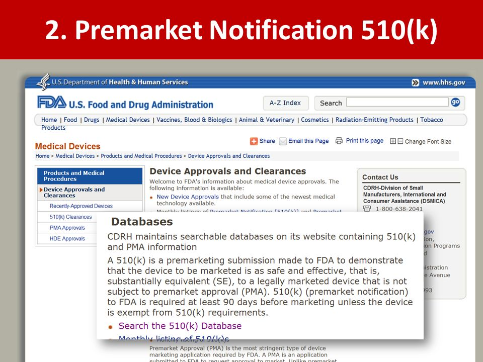 2. Premarket Notification 510(k)