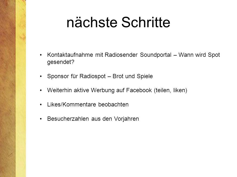 nächste Schritte Kontaktaufnahme mit Radiosender Soundportal – Wann wird Spot gesendet.