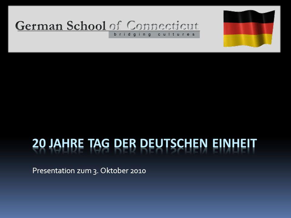 Presentation zum 3. Oktober 2010
