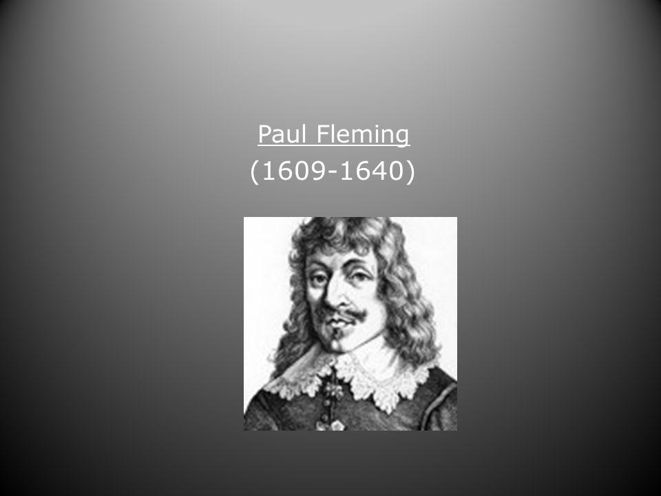 Paul Fleming (1609-1640)