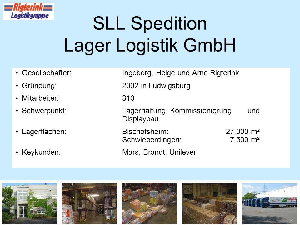 Gesellschafter:Ingeborg, Helge und Arne Rigterink Gründung:2002 in Ludwigsburg Mitarbeiter:310 Schwerpunkt:Lagerhaltung, Kommissionierung und Displayb