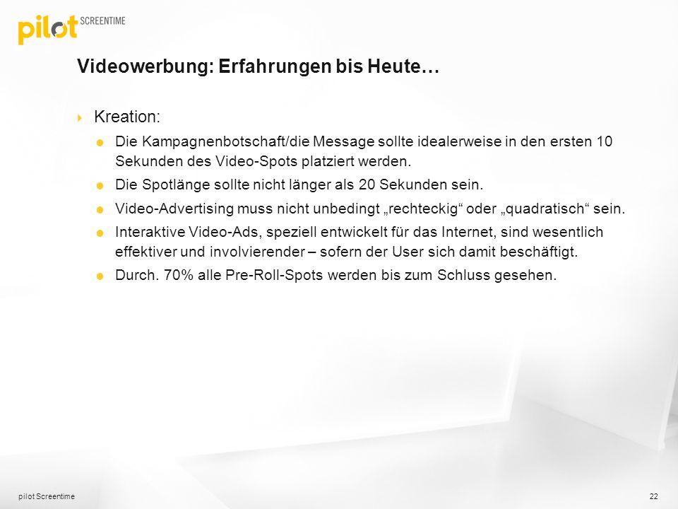 Videowerbung: Erfahrungen bis Heute… Kreation: Die Kampagnenbotschaft/die Message sollte idealerweise in den ersten 10 Sekunden des Video-Spots platzi