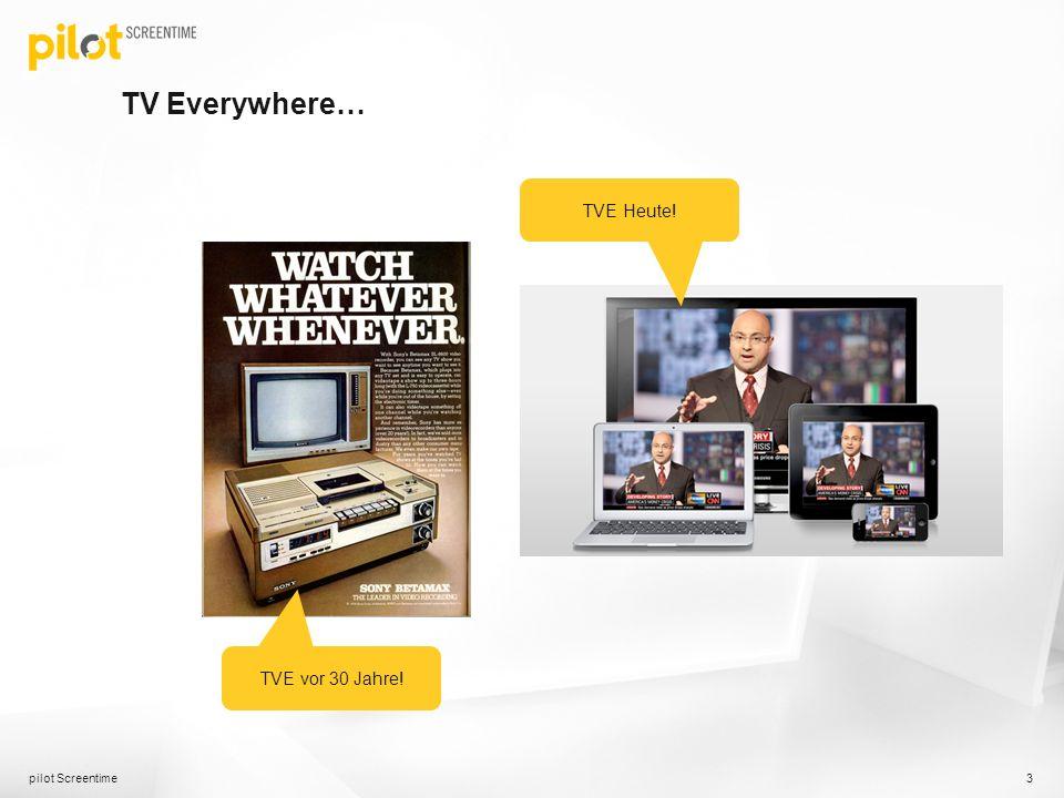 TV Everywhere… pilot Screentime 3 TVE vor 30 Jahre! TVE Heute!
