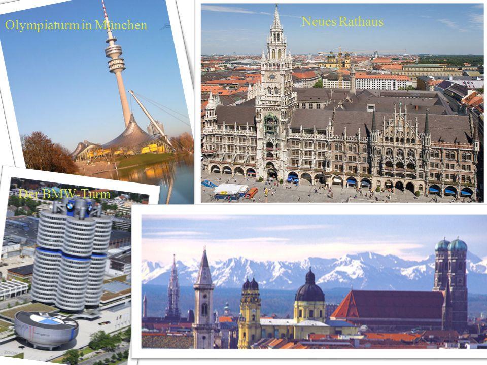 Olympiaturm in München Neues Rathaus Der BMW-Turm
