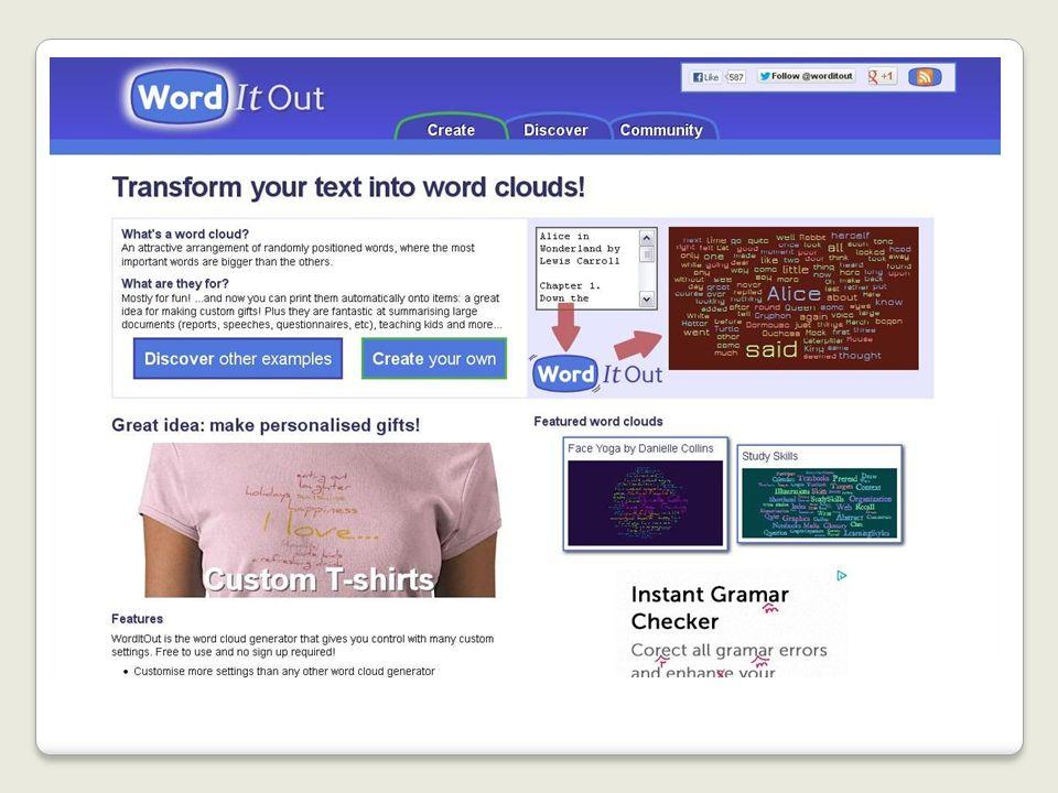 Word It Out Word It Out - создает облако из текста, который вводит (копирует) пользователь.