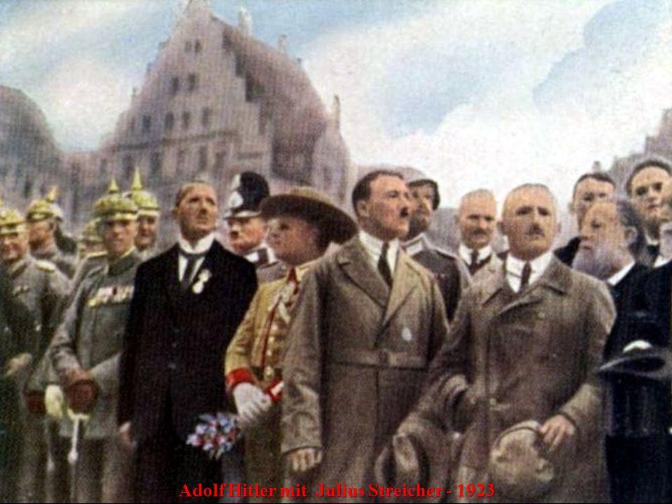 Adolf Hitler mit Julius Streicher - 1923