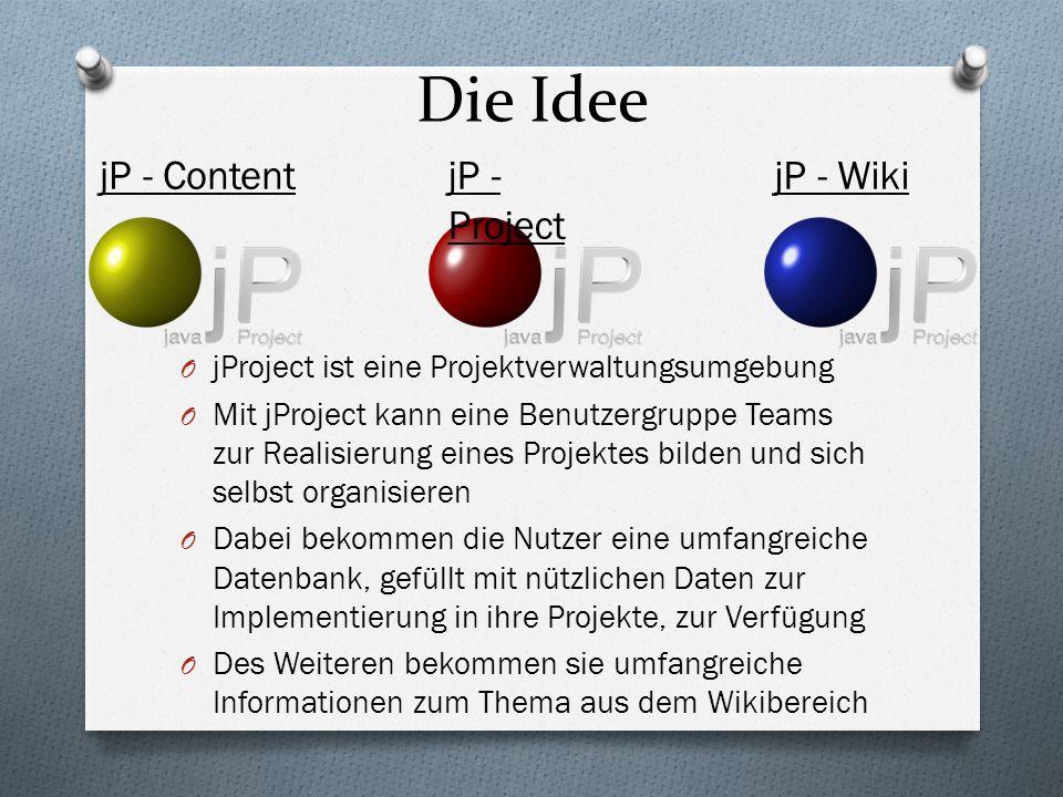 Umfeld der Anwendung O jProject ist in erster Linie eine allgemeine Projektverwaltungsumgebung und wird an die Umgebung angepasst(in diesem Fall an die FH-Brandenburg) O jProject ist öffentlich im Internet erreichbar, wird dort jedoch auf eine Gruppe beschränkt(Login für Studenten, Dozenten)