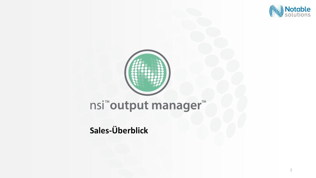 1 Sales-Überblick