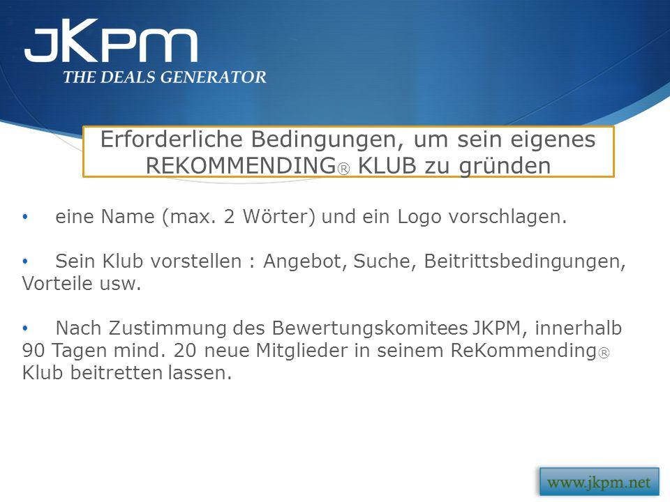 Mit JKPM, ist ein neues Referenzmodell entstanden: das ReKommending ® Nutzen Sie es !