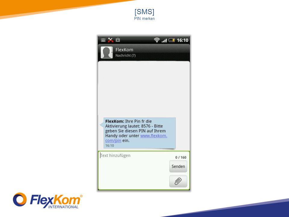 [SMS] PIN merken