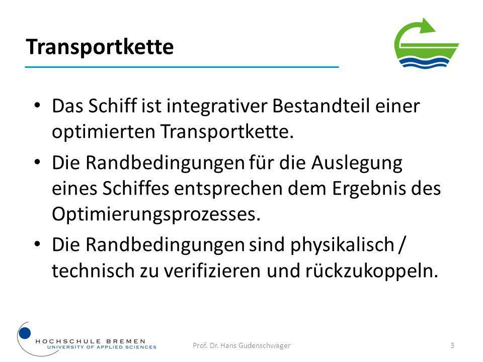 14Prof. Dr. Hans Gudenschwager Schiffsentwurf
