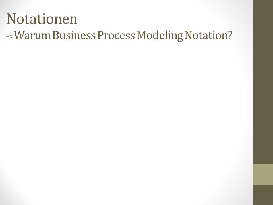 Notationen -> Warum Business Process Modeling Notation?