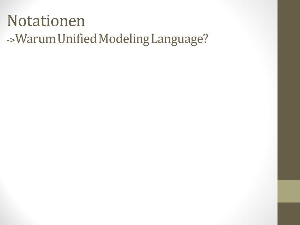 Notationen -> Warum Unified Modeling Language?