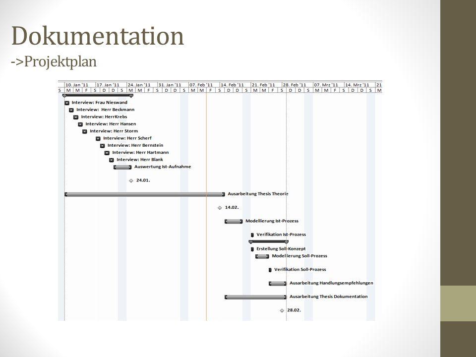 Dokumentation ->Projektplan