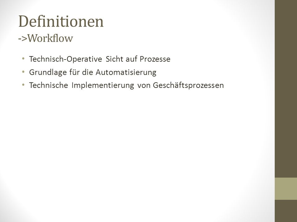 Definitionen ->Prozess-Management -> Konzeption