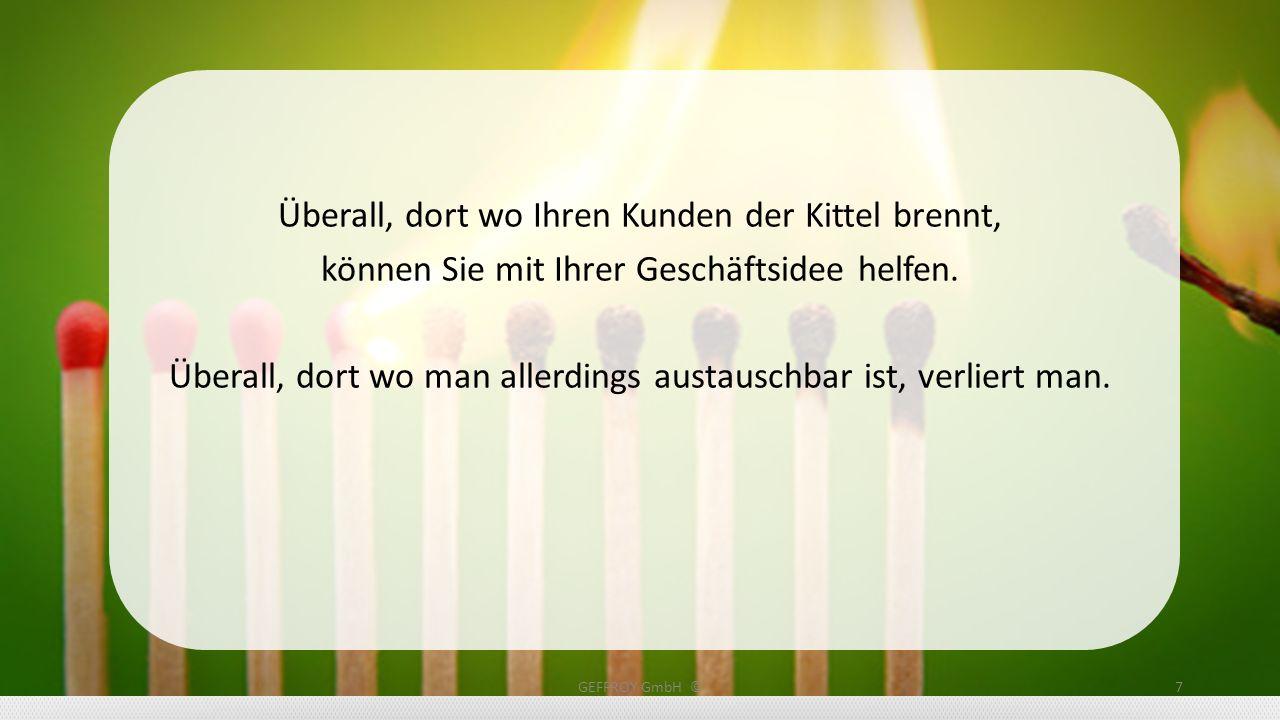 GEFFROY GmbH ©28 Werden Sie aktiv, handeln Sie.