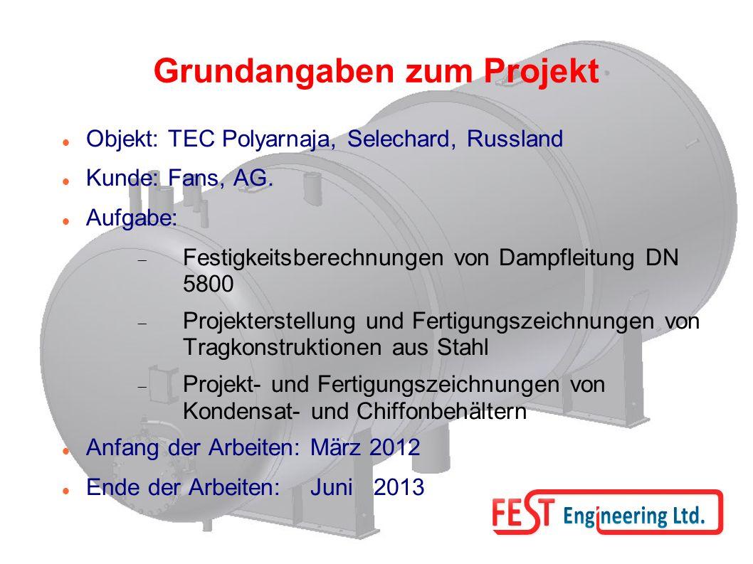 Grundangaben zum Projekt Objekt: TEC Polyarnaja, Selechard, Russland Kunde: Fans, AG.