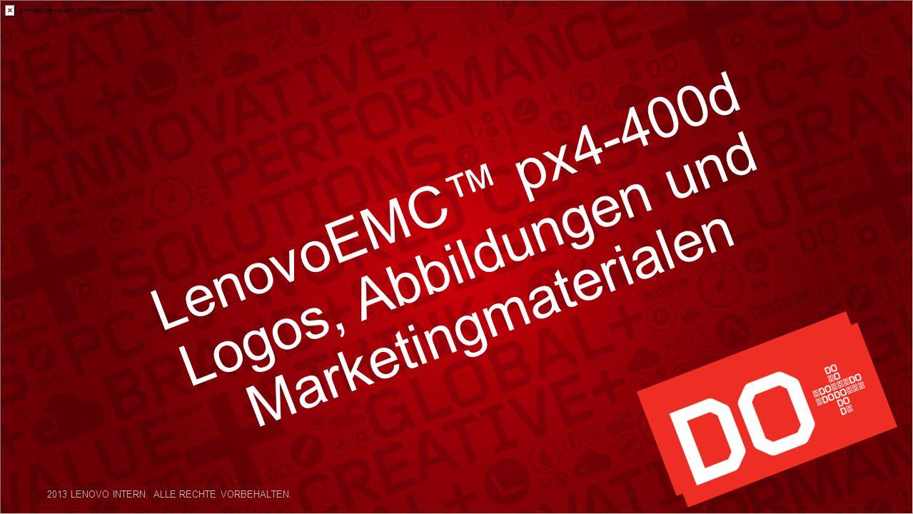 LenovoEMC px4-400d Logos, Abbildungen und Marketingmaterialen 2013 LENOVO INTERN.