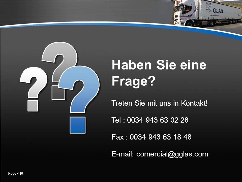 Page 10 Treten Sie mit uns in Kontakt.