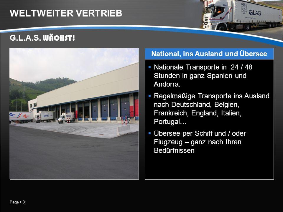 Page 4 NATIONALE TRANSPORTE Unser Transportnetz mit Serviceleistungen in 24 / 48 Stunden in ganz Spanien und Andorra.