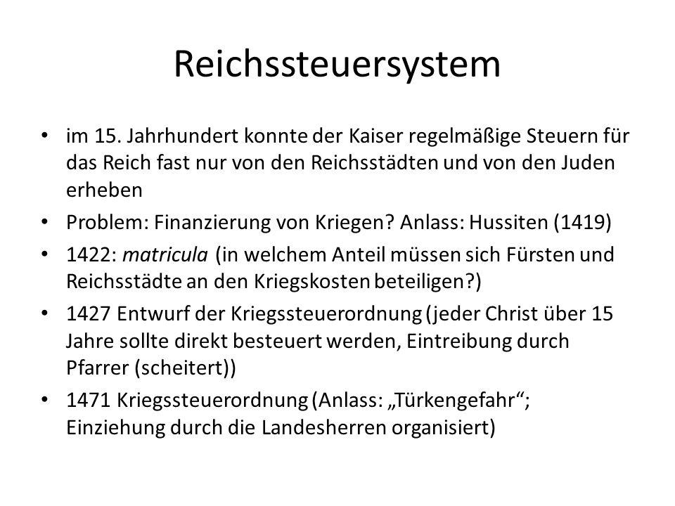 Reichssteuersystem im 15.