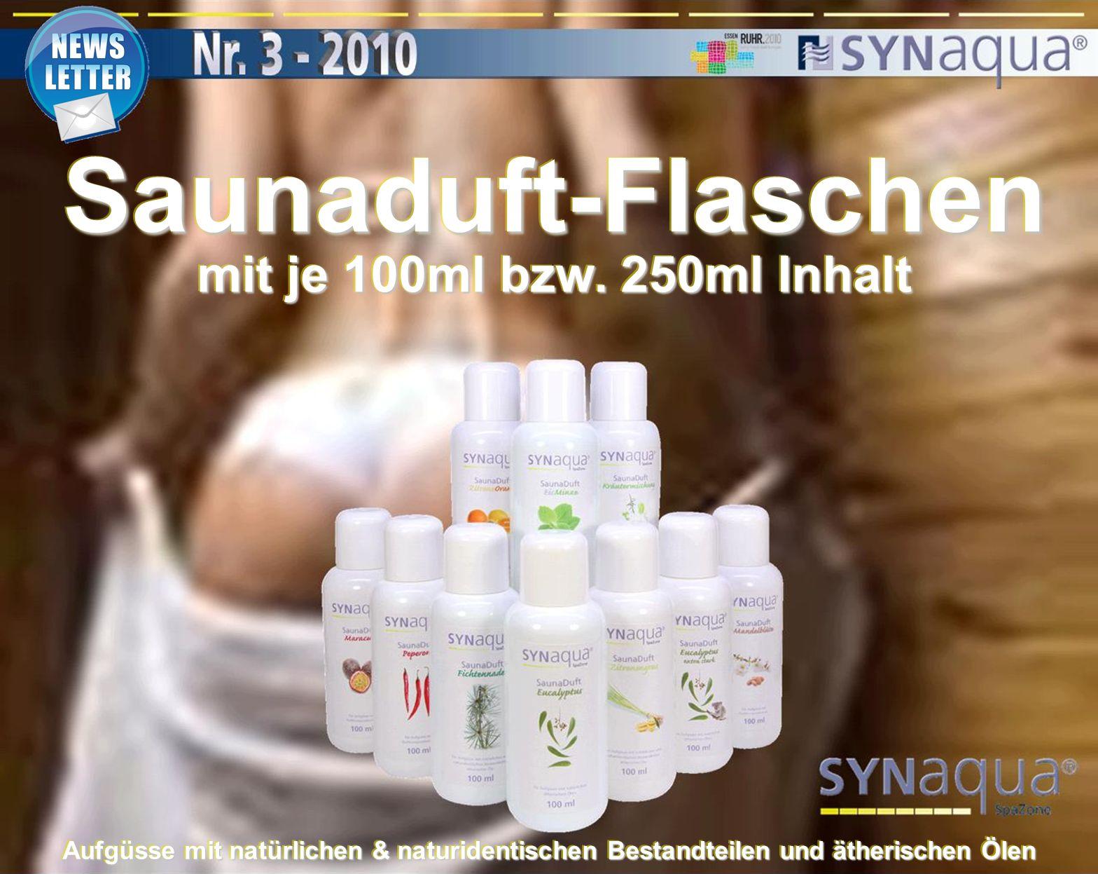 Saunaduft-Flaschen mit je 100ml bzw.