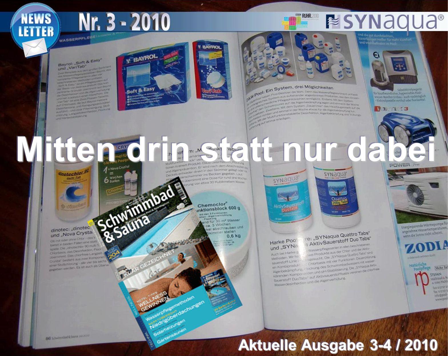 Mitten drin statt nur dabei Aktuelle Ausgabe 3-4 / 2010