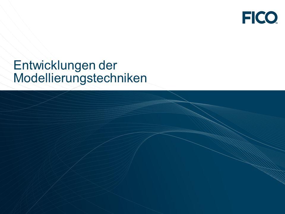 © 2010 Fair Isaac Corporation. Confidential. 14 Entwicklungen der Modellierungstechniken