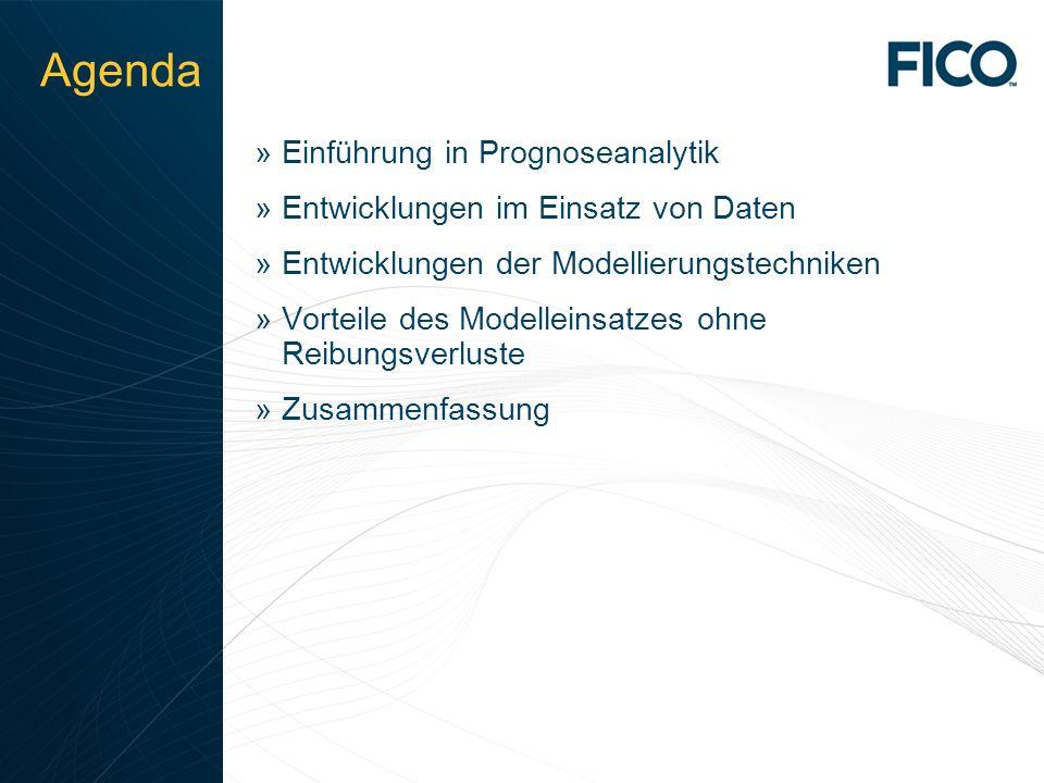 © 2010 Fair Isaac Corporation. Confidential. 2 Agenda »Einführung in Prognoseanalytik »Entwicklungen im Einsatz von Daten »Entwicklungen der Modellier