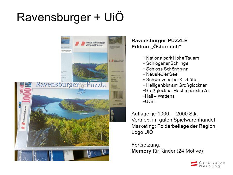 Ravensburger PUZZLE Edition Österreich Nationalpark Hohe Tauern Schlögener Schlinge Schloss Schönbrunn Neusiedler See Schwarzsee bei Kitzbühel Heilige