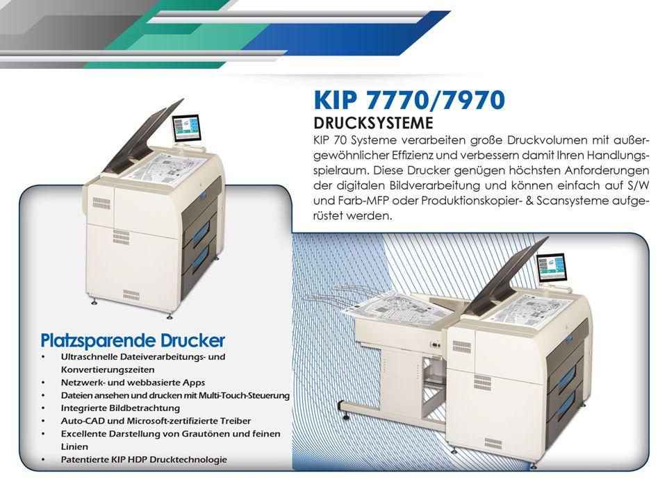 Produktivität der KIP 70 Serie