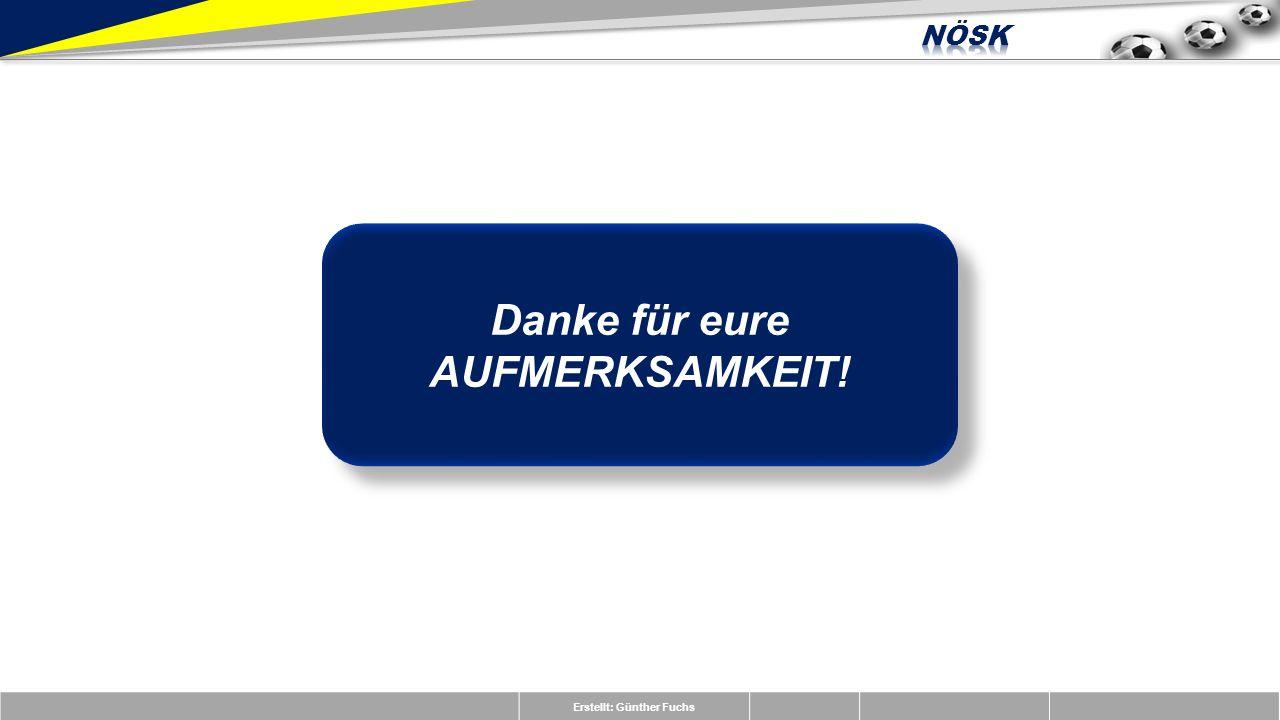 Erstellt: Günther Fuchs Danke für eure AUFMERKSAMKEIT!