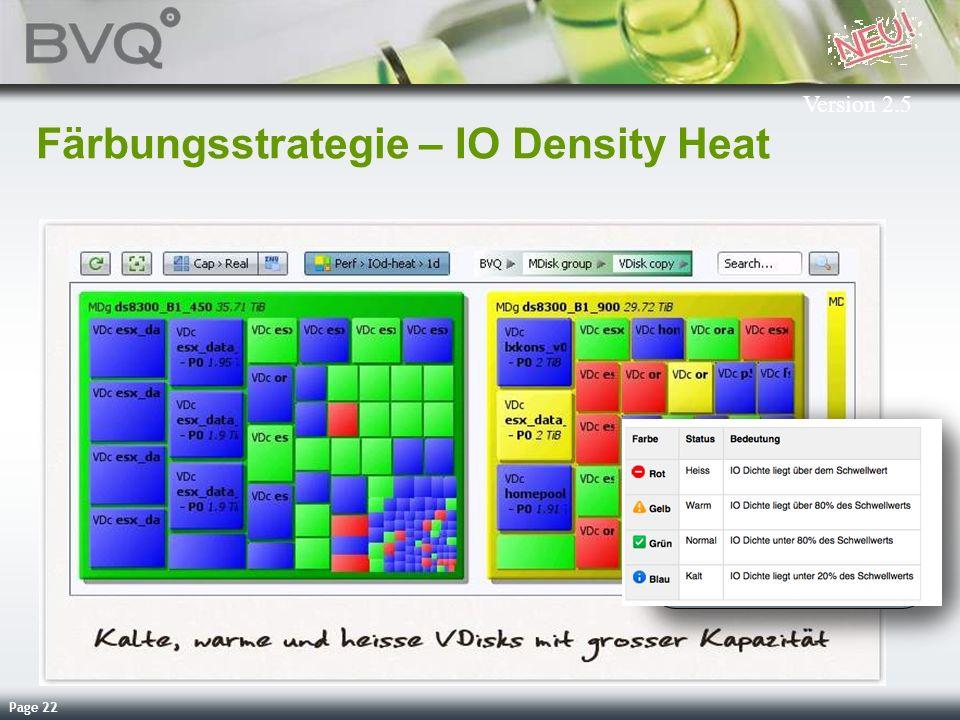 Page 22 Färbungsstrategie – IO Density Heat Version 2.5