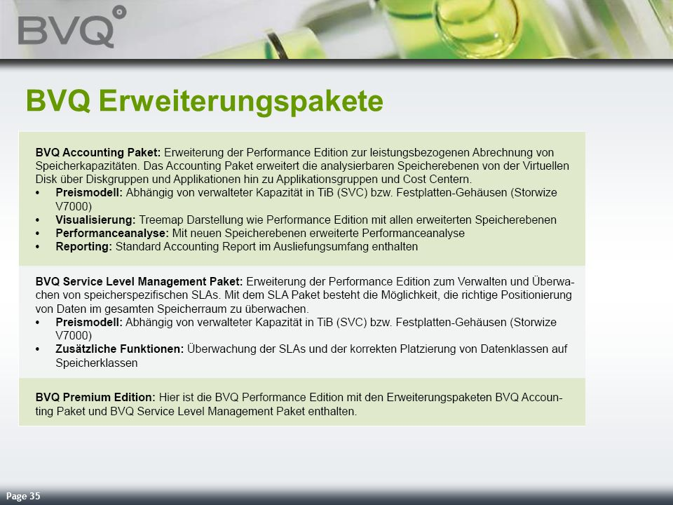 Page 35 BVQ Erweiterungspakete