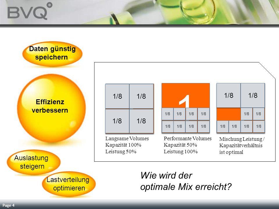 Page 4 Effizienz verbessern Daten günstig speichern Auslastung steigern Lastverteilung optimieren Servicequalität steigern Abrechnung vereinfachen 1 1