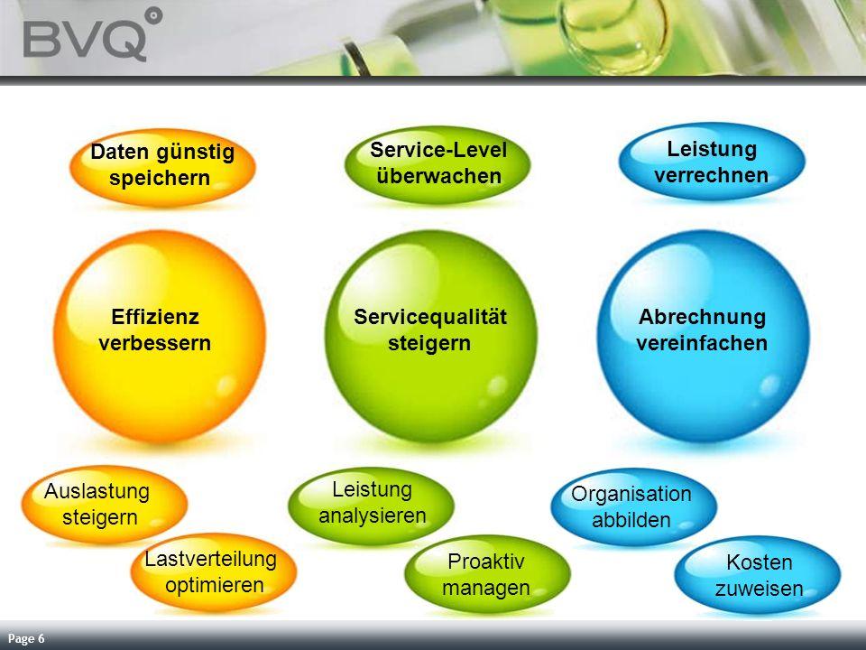 Page 6 Effizienz verbessern Servicequalität steigern Abrechnung vereinfachen Leistung analysieren Proaktiv managen Organisation abbilden Kosten zuweis