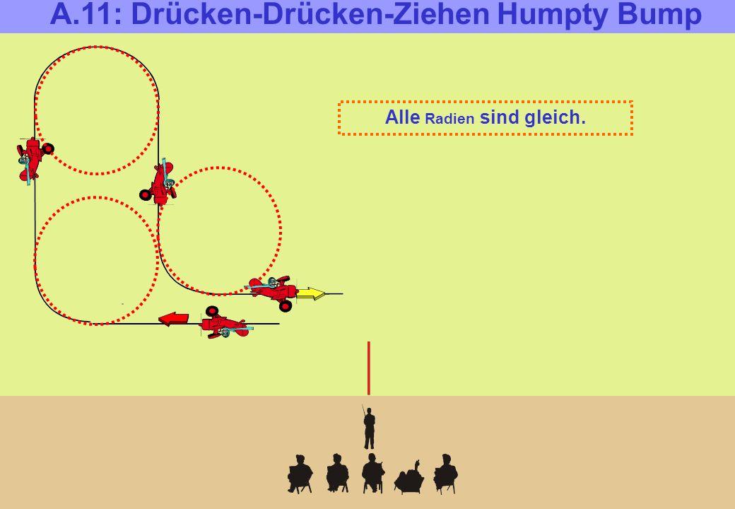 A.11: Drücken-Drücken-Ziehen Humpty Bump Alle Radien sind gleich.