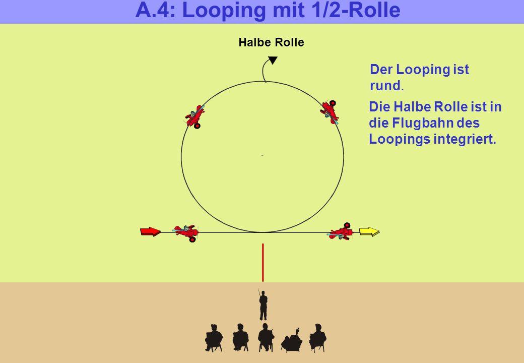 Halbe Rolle A.4: Looping mit 1/2-Rolle Der Looping ist rund.