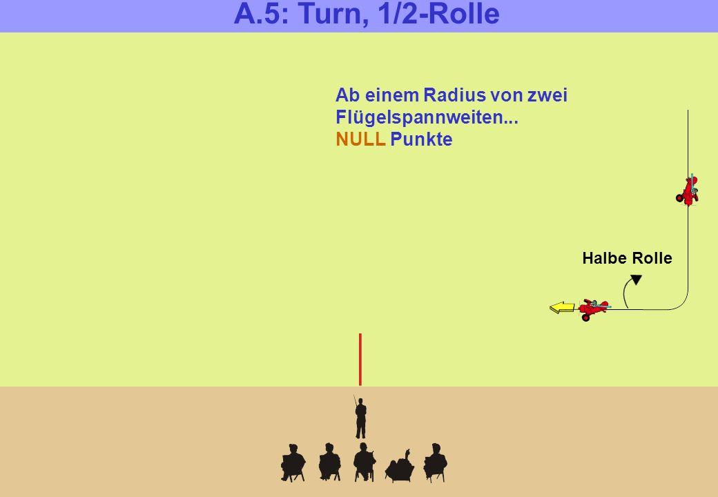 Halbe Rolle Ab einem Radius von zwei Flügelspannweiten... NULL Punkte