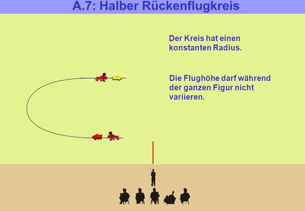 A.7: Halber Rückenflugkreis Der Kreis hat einen konstanten Radius.