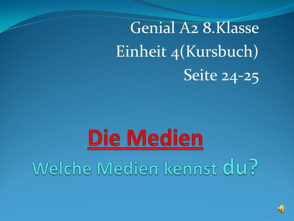 Genial A2 8.Klasse Einheit 4(Kursbuch) Seite 24-25