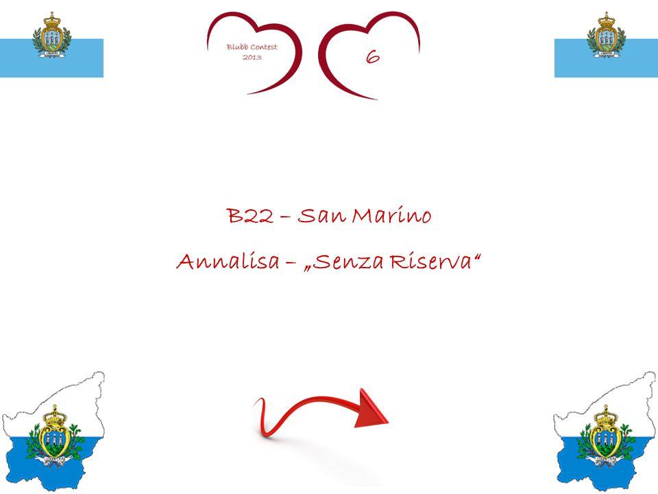 6 B22 – San Marino Annalisa – Senza Riserva