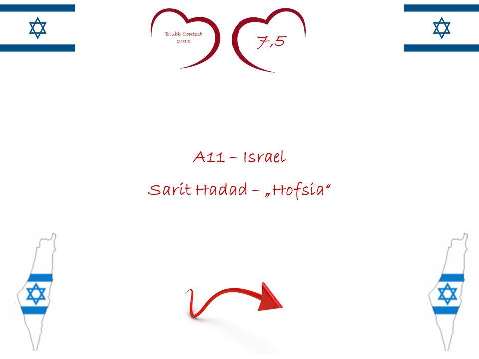 7,5 A11 – Israel Sarit Hadad – Hofsia