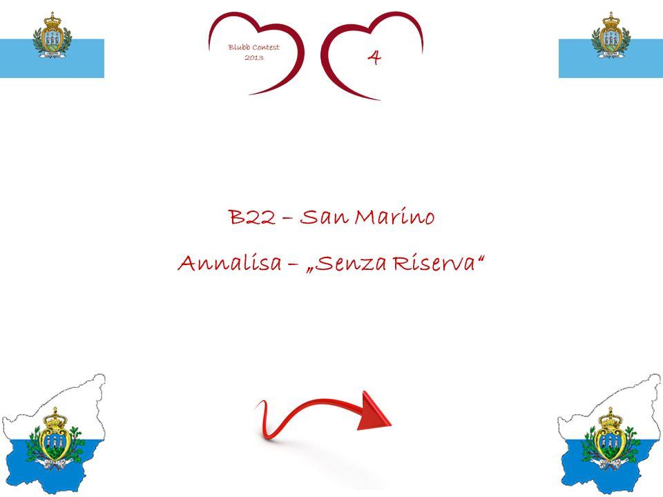 4 B22 – San Marino Annalisa – Senza Riserva